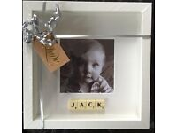 Personalised Scrabble Picture Frame .