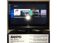 "Sanyo CE32LD33-B 32"" Wide LCD HD Ready TV with FreeView"