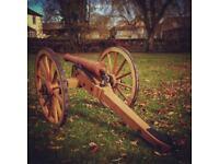 Half sized British 6Lb cannon