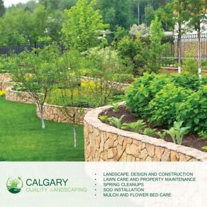 Calgary Quality Landscaping - Mulch & Rock Sales/ Installation, Spring Cleanup, Lawn Care