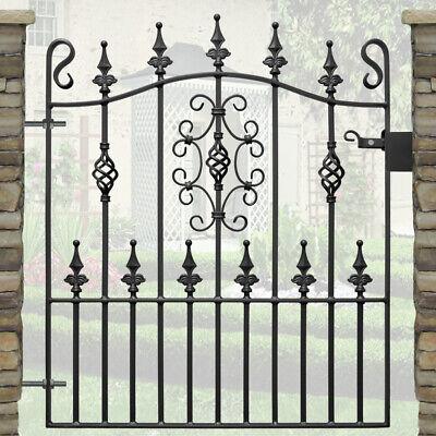 3ft high Ornate Wrought Iron Garden Single Gate-3ft 3in (991mm) opening-AVON