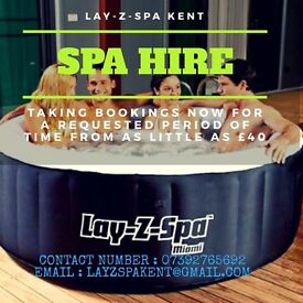 Lay Z Spa hire/rental in the Thanet/Kent area