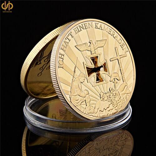 WWII Germany Cross Gold Plated Ich Hatt Einen Kameraden Challenge Coins Collect