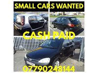 CASH 4 .FIESTA ,s CLIO,s CORSA,s 206 & 207,s ANYTHING CONSIDERED
