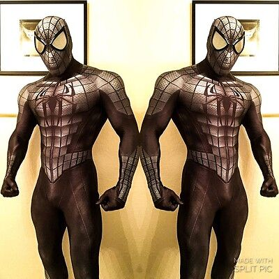 Black Spiderman Costume Halloween Cosplay Superhero Spider Zentai For Adult/Kids