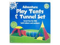 Indoor/Outdoor Play Tent & Tunnel Set (3 pieces)