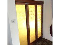Retro bi-fold doors.