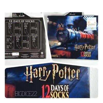 Harry Potter 12 Days of Socks Advent Calendar Womens 4-10 Hogwarts Express NEW