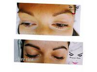 LVL lash lift elleebana, eyebrows and lash tint, eyebrow shaping
