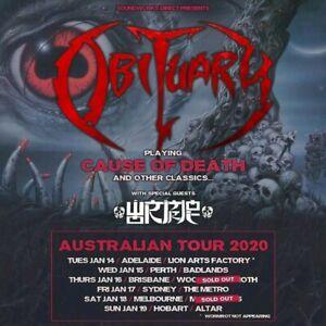 1 x GA ticket to Obituary (Metro, Sydney) this Friday