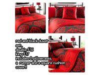 Red and Black duvet set