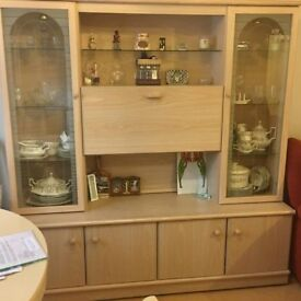 Side board unit with lights