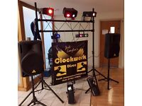 CLOCKWORK DISCO -DISCO HIRE - GOOD RATES -GET IN TOUCH NOW AND BOOK YOUR PARTY!