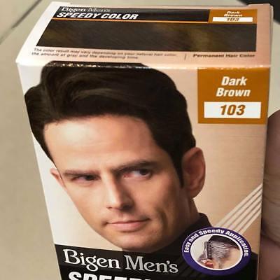 Best Bigen Men 's Speedy Hair Colour Dark Brown 103 Dye Brush No Ammonia