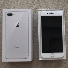 iphone 8 plus 64 GB silver unlocked