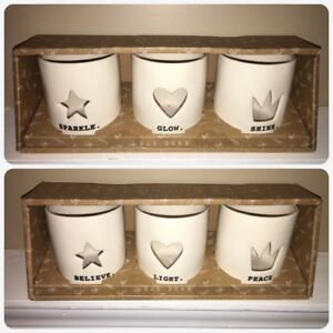 New Rae Dunn tea light candle holders.