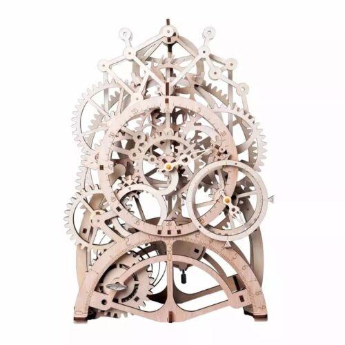 Robotime DIY Gear Drive Pendulum Clock Clockwork 3D Wooden Model Building Kit