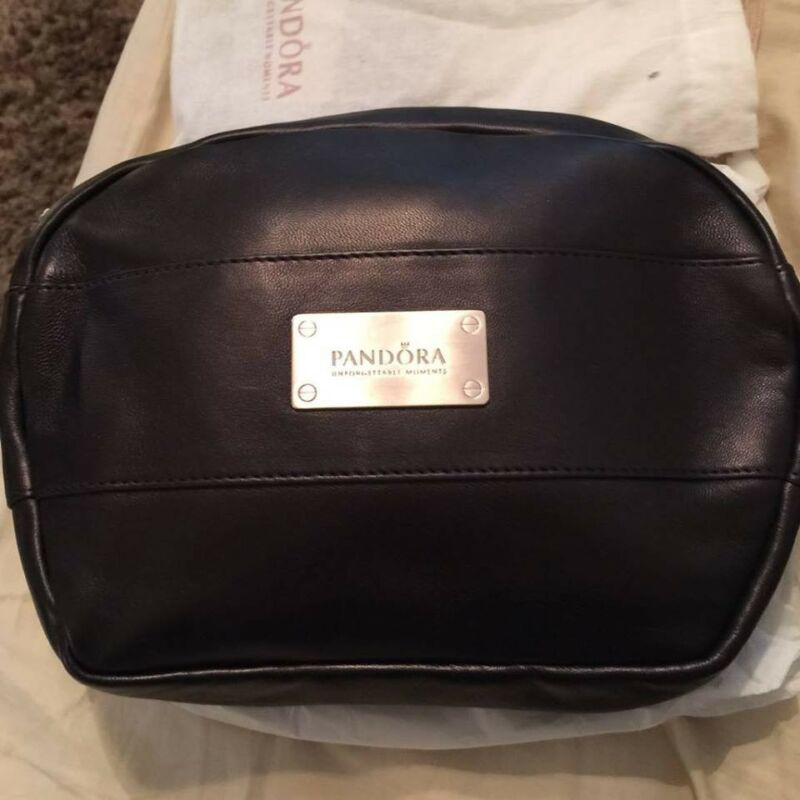 Pandora Large Leather Makeup Bag with dust cover