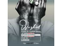 Wizkid standing tickets, O2 Arena London, Monday 29th November 2021