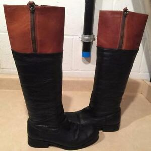 Women's Size 7.5M Steve Madden Royal Tall Leather Boots