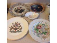 Eleven Royal doulton Plates and a royal Doulton sandsprite jug and cup