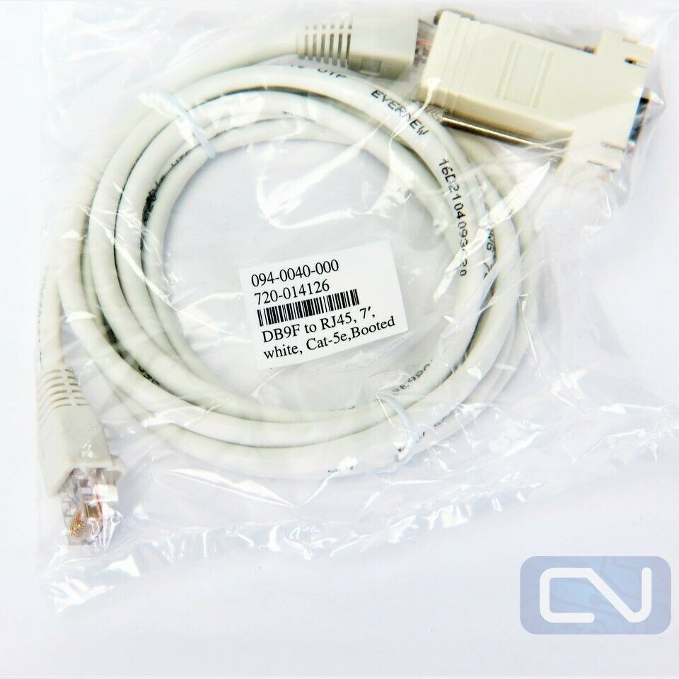 Cablesys 1ft White Cat 6 Patch Cord w//Snagless Boot 6-Pack