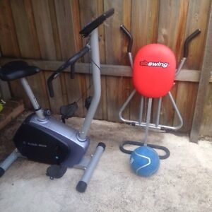 Action exercise bike, abswing and exercise ball Brunswick West Moreland Area Preview