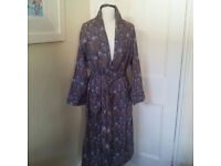 Beautiful Liberty dressing gown with breast pocket and waist tie UK size medium