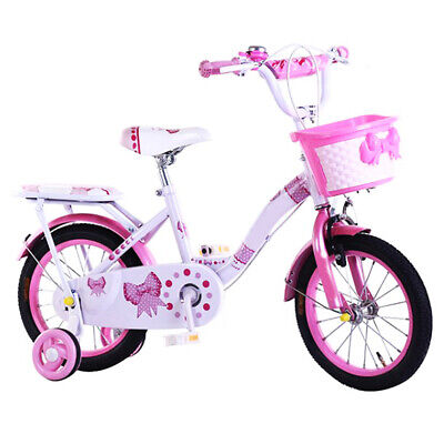 KIDISA™ CHILDREN'S GIRLS PINK BIKE BICYCLE WITH REMOVABLE STABILISERS 14 INCH UK