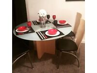Dining table - Glass top 4 seater
