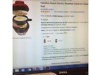 Brand New Hamilton Beach Breakfast Muffin/Sandwich Maker