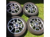Genuine Ford 17 inch alloy wheels with Hankook tyres 4x108 (4 stud)