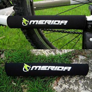 2pcs X New Black Cycling Bike Bicycle Chain Stay Protector Nylon Pad Merida Logo