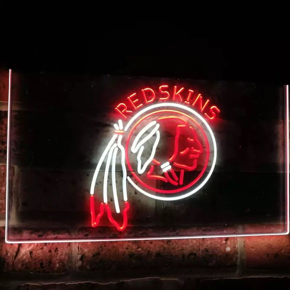 Washington Redskins Neon Sign Wall Light Sports Room Team 12