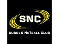 Sussex Netball Club are Recruiting!