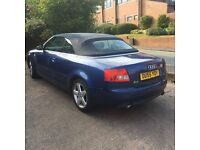 SWAP/PX audi a4 convertible (55 PLATE) 1.8t