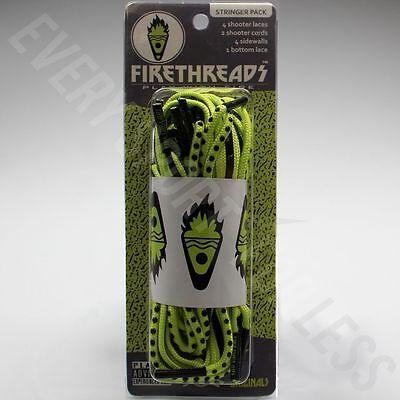 Firethreads Lacrosse Stringer Pack / Lax Stringing Kit -  Black/Neon Green (NEW)