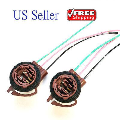 Socket Wiring (2x 3157 4157 Bulb Socket Brake Turn Signal Light Harness Wire Plug Connector )