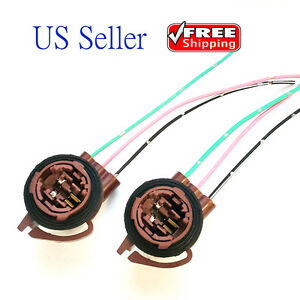 2x 3157 4157 Bulb Socket Brake Turn Signal Light Harness Wire Plug Connector
