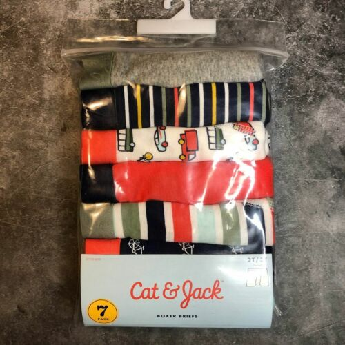 Boys Boxer Briefs 2T 3T Underwear New 7 Pack Cat and Jack