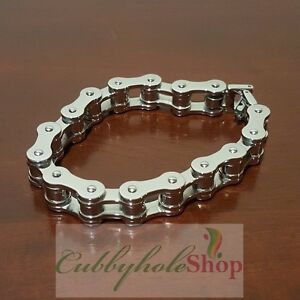 Cubbyhole24-Bicycle-Chain-Stainless-Steel-Men-039-s-Bracelet
