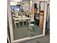 ‼️‼️CHICAGO 2 DOOR SLIDING WARDROBE WITH FULL MIRROR SAME DAY DELIVERY