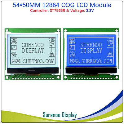 2.0 128x64 12864 St7565r Cog Matrix Graphic Lcd Module Display Screen Panel Lcm