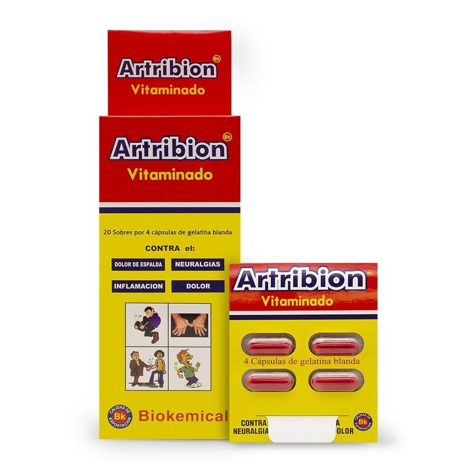 ARTRIBION VITAMINADO 1 DISPLAY 20 Packs x 4 Pills (80 Pastillas) original 100%