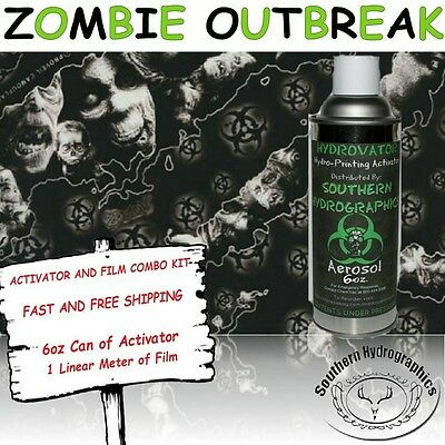 Hydrographic Film Water Transfer Hydro Dip 6oz. Activator Zombie Dip Kit