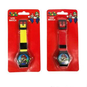 SUPER MARIO BROTHERS 2pcs Digital LCD Wrist Watch For Boy Girls Birthday