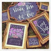 CHALKBOARD, SEATING CHARTS, EASEL RENTALS - 100s of styles