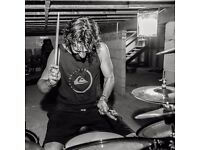 Rock/metal session drummer available.