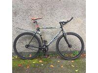 Full Custom Raleigh Road Bike Single Speed Fixie Carbon Forks Hollow Tech Bottom Bracket & Crankset