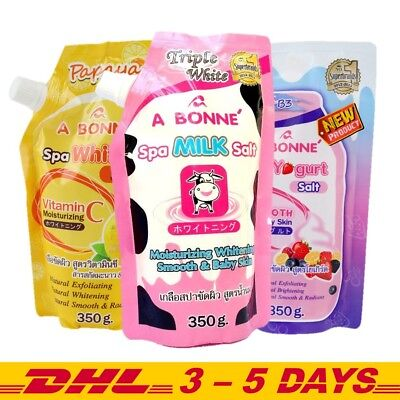 350g Pack of 2 : A Bonne Spa Milk Salt, WhiteC Salt, Yogurt Salt Whitening Scrub (Whitening Spa)